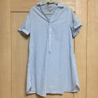 ニシマツヤ(西松屋)のマタニティシャツ★ストライプシャツ(マタニティトップス)