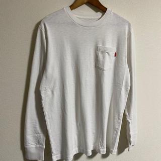 シュプリーム(Supreme)のsupreme ホワイト ロンT(Tシャツ(長袖/七分))