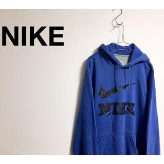 ナイキ(NIKE)の古着 NIKE ナイキ ビッグロゴ ブルー プルオーバー パーカー ユニセックス(パーカー)