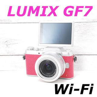 パナソニック(Panasonic)の❤️希少ピンクカラー❤️Wi-Fiでスマホへ❤️LUMIX GF7(ミラーレス一眼)