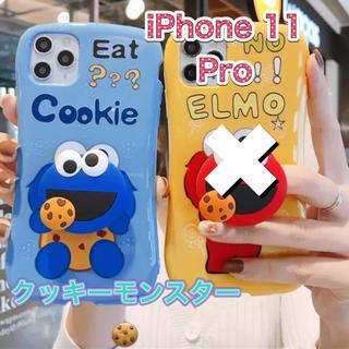 セサミストリート(SESAME STREET)のiPhone11Pro シリコンケース クッキーモンスター(iPhoneケース)