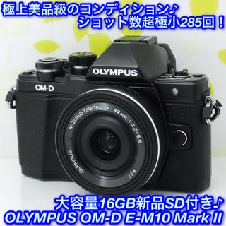 オリンパス(OLYMPUS)の★高級高性能ミラーレス!☆オリンパス OM-D E-M10 Mark II★(ミラーレス一眼)