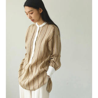TODAYFUL - todayful トゥデイフル Linen Stripe Blouse F