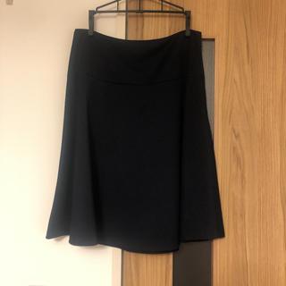 インディヴィ(INDIVI)の【INDIVI】ネイビーのスカート(ひざ丈スカート)