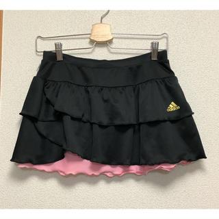 adidas - adidas テニスウェア スコート 黒 Sサイズ リバーシブル
