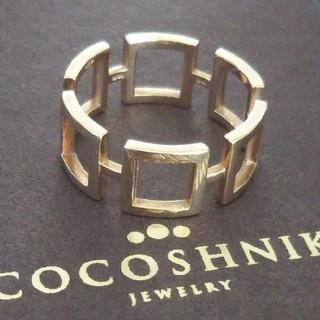 ココシュニック(COCOSHNIK)のココシュニック K10 リング 10号 スクエア ジオメトリック モチーフ(リング(指輪))