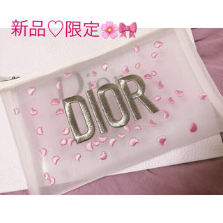 Dior - DIOR ディオール  限定♡シースルーポーチ/ノベルティポーチ