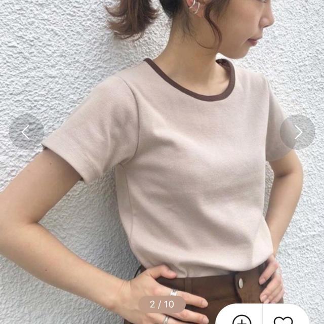Kastane(カスタネ)のリンガーリブTEE レディースのトップス(Tシャツ(半袖/袖なし))の商品写真
