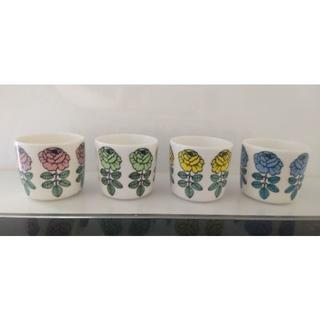 マリメッコ(marimekko)の廃盤品 マリメッコ ヴィヒキルース ラテマグ 4色セット(グラス/カップ)