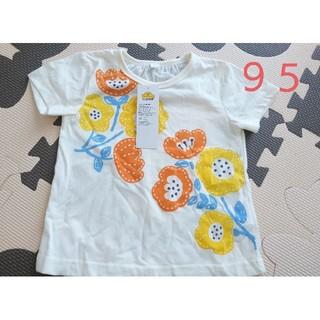 イオン(AEON)の花柄パッチワーク 半袖 Tシャツ(Tシャツ/カットソー)