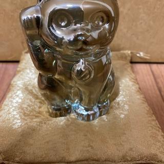 バカラ(Baccarat)のバカラ ゴールド招き猫(置物)