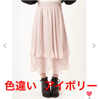 アンクルージュ(Ank Rouge)のAnk Rouge (アンク ルージュ) シフォンドットプリーツスカート 量産型(ロングスカート)