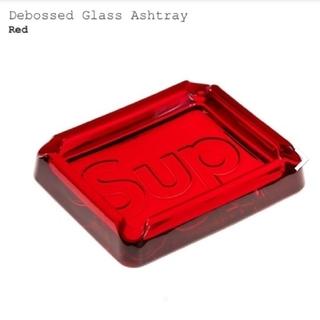 シュプリーム(Supreme)のSupreme Debossed Glass Ashtray Red 灰皿(灰皿)