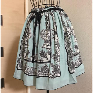 ドーリーガールバイアナスイ(DOLLY GIRL BY ANNA SUI)のDOLLY GIRL プリント膝丈スカート(ひざ丈スカート)