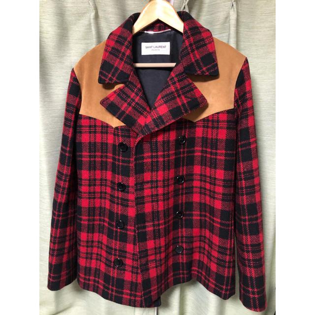 Saint Laurent(サンローラン)のサンローラン  14AW Pコート 48 キムタク着 メンズのジャケット/アウター(ピーコート)の商品写真