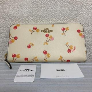 COACH - コーチ、長財布、チェリー、一万円札入ります、新品未使用