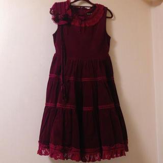 Innocent World - 別珍ジャンパースカート+ヘッドドレスセット