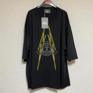 ヴィヴィアンウエストウッド(Vivienne Westwood)の未使用☺︎Vivienne Westwood  MAN Tシャツ オーブ 黒 雷(Tシャツ/カットソー(半袖/袖なし))