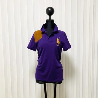 ポロラルフローレン(POLO RALPH LAUREN)のラルフローレン ラルフ ポロシャツ レザー ショルダーパッチ ビッグポニー 美品(ポロシャツ)