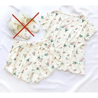 tutuanna - チュチュアンナ レディース パジャマ 半袖 夏用 夏 天竺 ラベンダー 花柄
