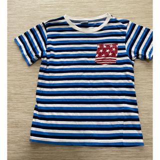 ボーダー Tシャツ キッズ140 ブルー(Tシャツ/カットソー)