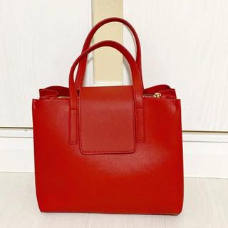 神戸レタス - 【本日限定セール】神戸レタス 韓国ファッション♡赤 ハンドバッグ 無地 大容量