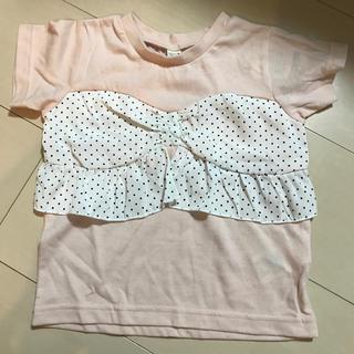 プティマイン(petit main)の新品 キッズ Tシャツ ドット柄 apres les corse(Tシャツ/カットソー)