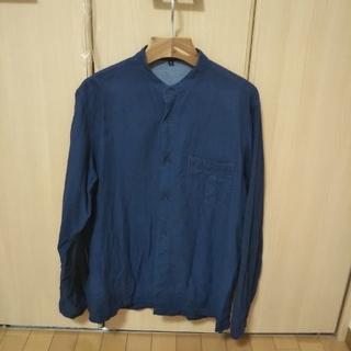 ムジルシリョウヒン(MUJI (無印良品))のインド綿インディゴ二重ガーゼスタンドカラーシャツ(シャツ)
