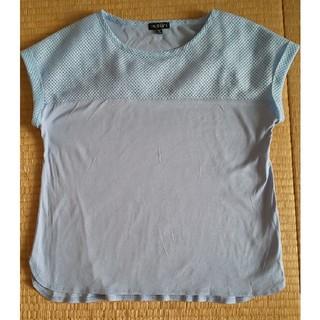 インディヴィ(INDIVI)のINDIVI トップス(水色)(カットソー(半袖/袖なし))