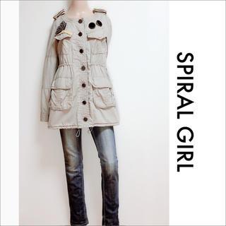 SPIRAL GIRL - SPIRAL GIRL ノーカラー ミリタリージャケット♡マウジー SLY