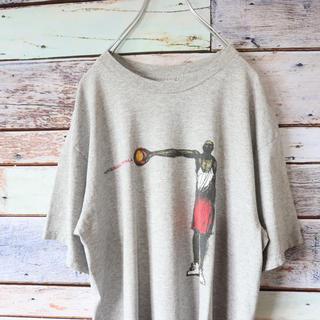 ナイキ(NIKE)のNIKEナイキ 白タグ メキシコ製 バスケ Tシャツ グレー M(Tシャツ/カットソー(半袖/袖なし))