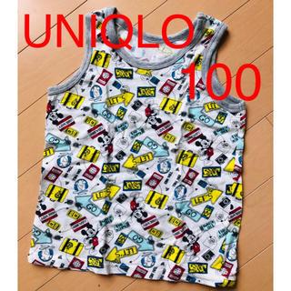 ユニクロ(UNIQLO)のUNIQLO ユニクロ ミッキー 100 タンクトップ キッズ 男の子(Tシャツ/カットソー)