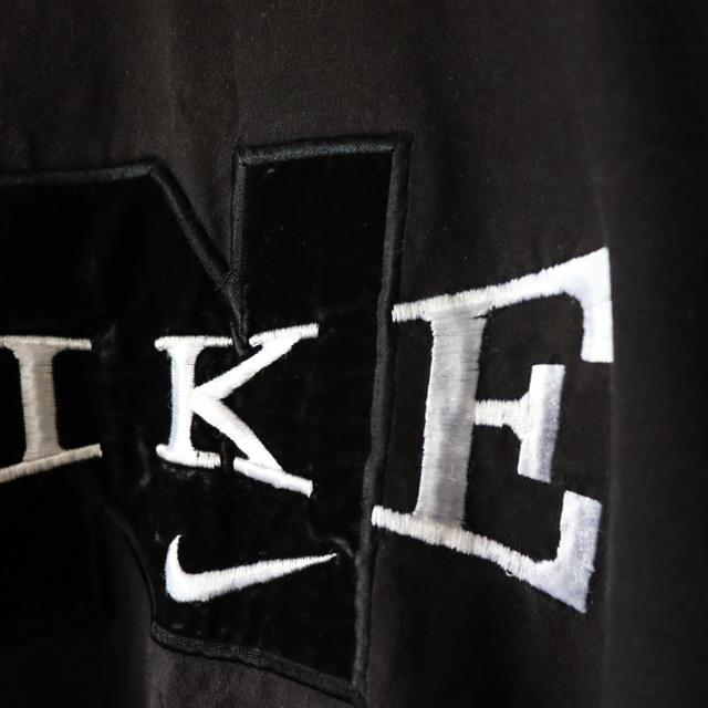 NIKE(ナイキ)の希少 ナイキNIKE 白タグ 立体ロゴ 刺繍 ブラック メンズのトップス(Tシャツ/カットソー(半袖/袖なし))の商品写真