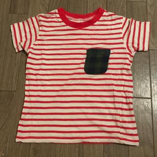 スキップランド(Skip Land)の赤白ボーダーTシャツ100㎝(Tシャツ/カットソー)