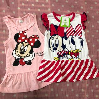 Disney - 新品☆ディズニー ミニー デイジー チュニック トップス Tシャツ 2枚セット