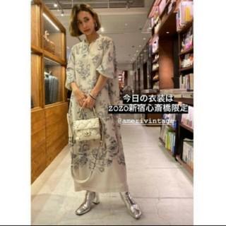 アメリヴィンテージ(Ameri VINTAGE)のamerivintage REHEMA KEY NECK DRESS(ロングワンピース/マキシワンピース)