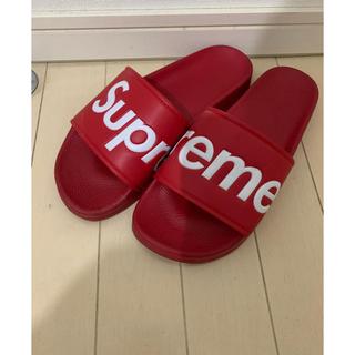 Supreme - supreme サンダル 赤