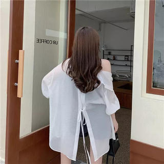 アメリヴィンテージ(Ameri VINTAGE)のシアーシャツホワイト(シャツ/ブラウス(長袖/七分))