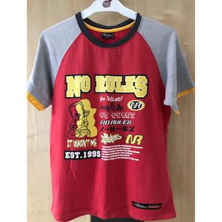 男子150サイズTシャツ 赤&グレー(Tシャツ/カットソー)