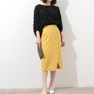 ROPE - ROPE mademoiselle ロペ サイドボタンムジタイトスカート