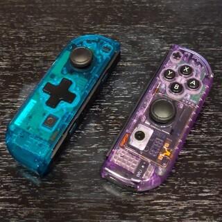 ニンテンドースイッチ(Nintendo Switch)のJoy-Conジョイコン【クリアブルー(十字ボタン)・クリアパープル】(その他)