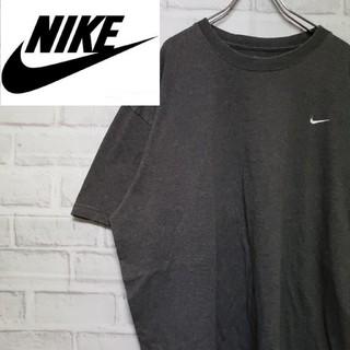 ナイキ(NIKE)の《人気デザイン》90s ナイキ 刺繍 Tシャツ チャコールグレー XL(Tシャツ/カットソー(半袖/袖なし))
