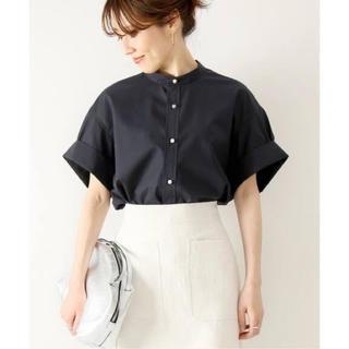 Spick and Span - ネイビー Spick & Span パールボタンタックスリーブシャツ