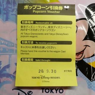 ディズニー(Disney)の東京ディズニーランド シー リゾート ポップコーン 引き換え券(フード/ドリンク券)
