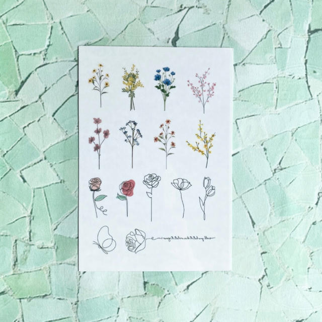 タトゥーシール 【フラワー】 韓国 消えるタトゥー レディースのアクセサリー(その他)の商品写真