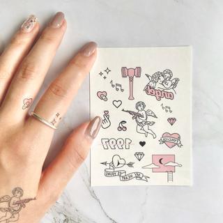 タトゥーシール 【ピンク】 韓国 消えるタトゥー