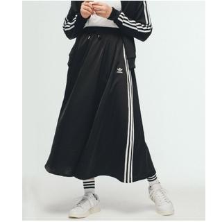 アディダス(adidas)の新品アディダス ロングスカート ブラック 黒(ロングスカート)