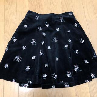 JILLSTUART - 美品☆ JILLSTUART フレアスカート 黒 花柄