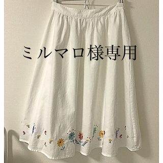 エヘカソポ(ehka sopo)のehka sopo 花柄スカート(ひざ丈スカート)