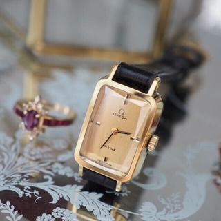オメガ(OMEGA)の極美品💎オメガ グリマデザイン 希少カットガラス💎カルティエ agete(腕時計)